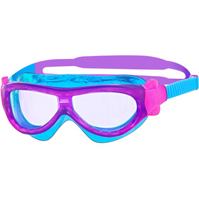 Zoggs Phantom Mask Lapset, purple/light blue/clear